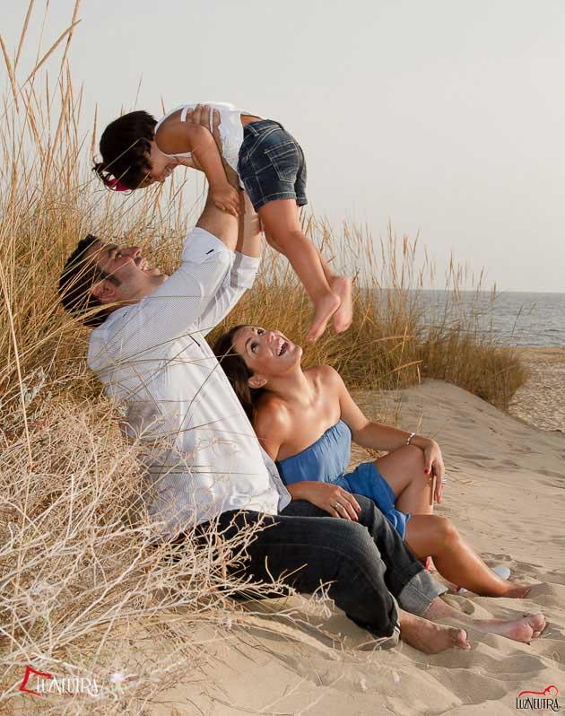 Reportaje de Fotos de Familia en la playa