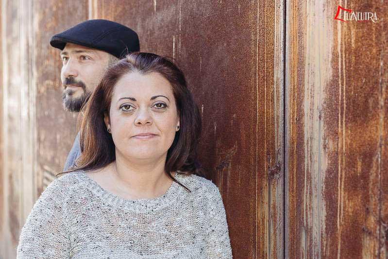 Toñi y David en La Cartuja de Sevilla