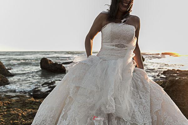 fotos de novia en la playa
