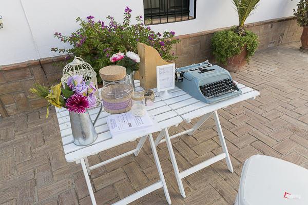detalle de la decoracion de boda en hacienda veracruz de sevilla