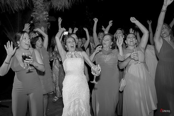 la fiesta de la boda fue espectacular
