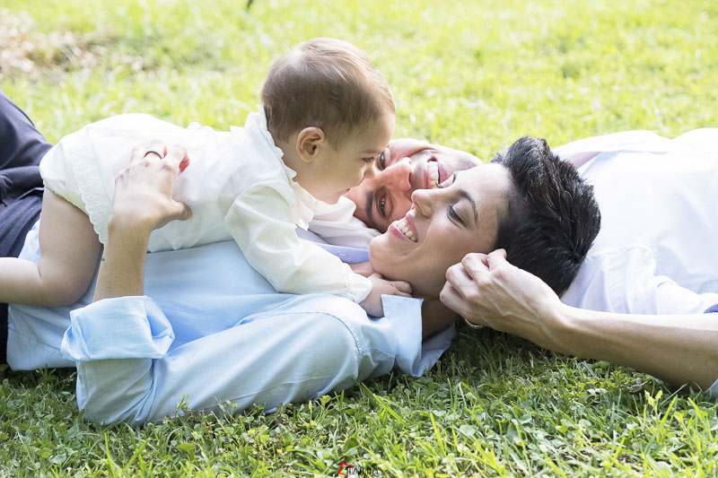 Fotos de bebé en el Parque de María Luisa en Sevilla