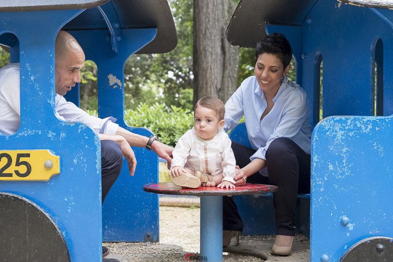 Fotos de familia en exteriores, Parque de María Luísa en Sevilla