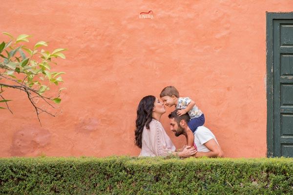 fotos familiares en el Alcázar de Sevilla
