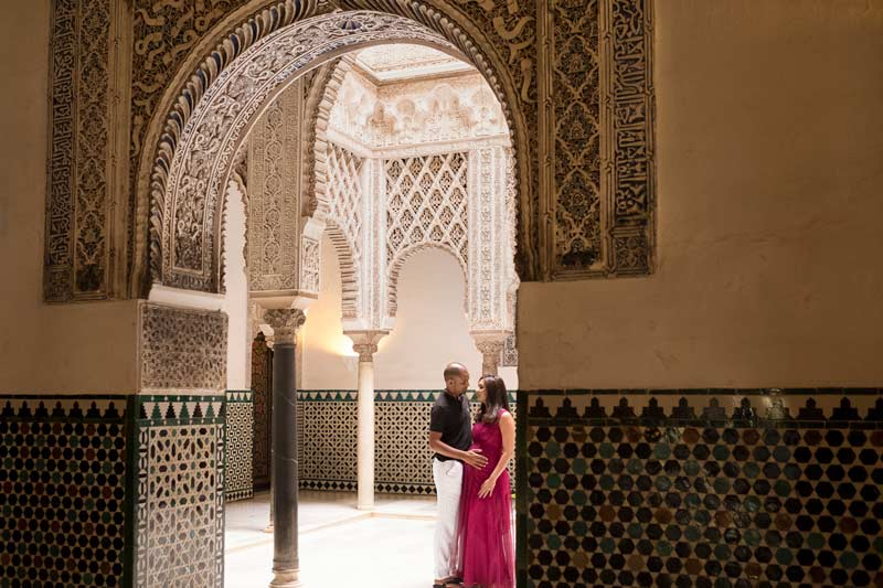photographer to alcazar in seville