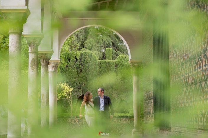 fotos bonitas de boda en alcazar de sevilla
