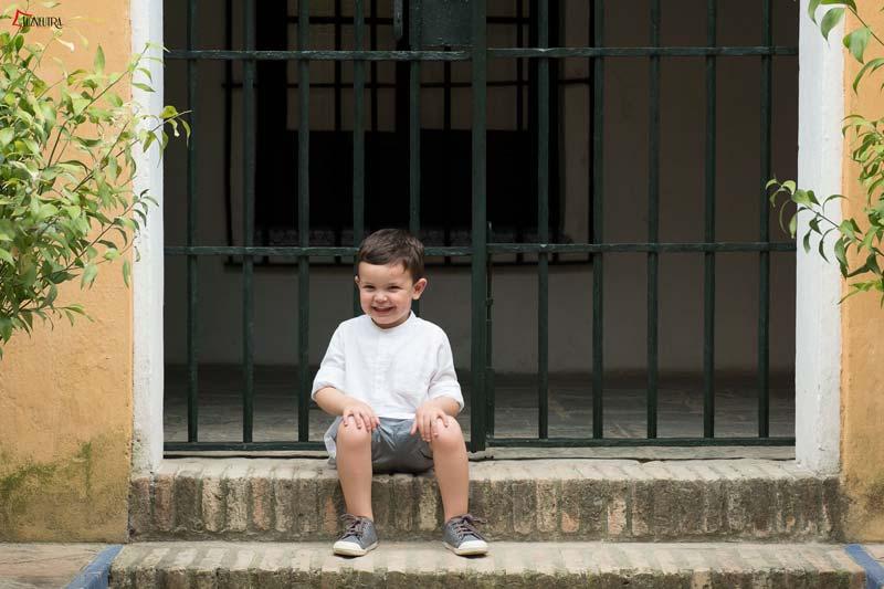 imagenes de niños en una boda en alcazar Sevilla