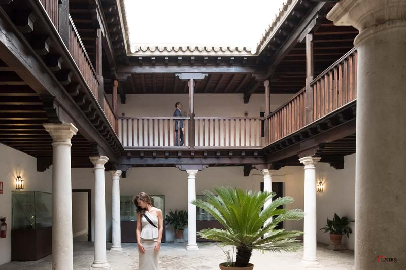 sevillana casándose en el Alcazar de Sevilla