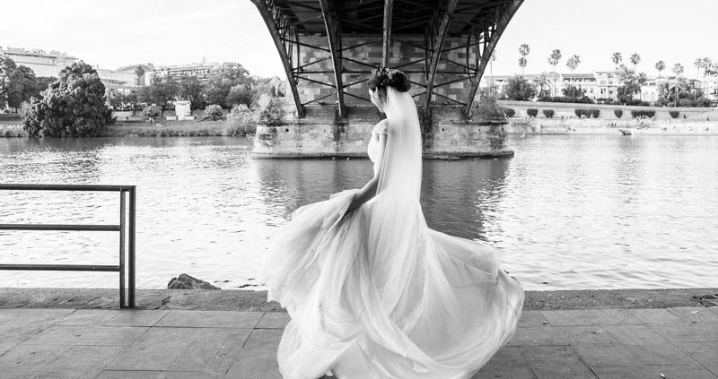 Unas fotos de boda en Sevilla Triana, preciosas